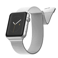Ремешок X-Doria Hybrid Mesh для Apple Watch 38/40 мм Серебро