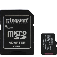 Карта памяти Kingston microSDXC Memory Card 128Gb A1 V10 UHS-IU3 + SD адаптер